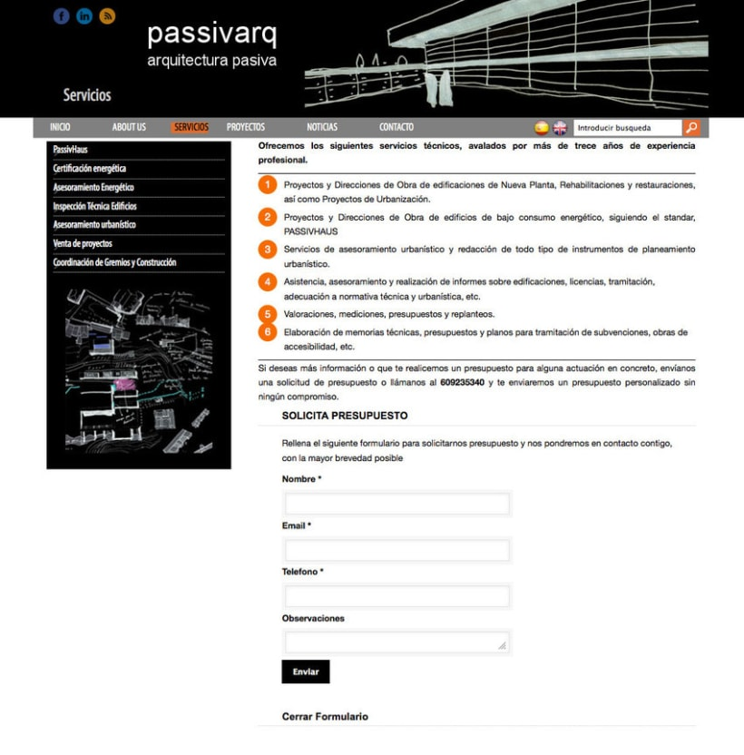 Passivarq - Gestor de contenidos para estudio de arquitectura de Ignacio Pedreira 1