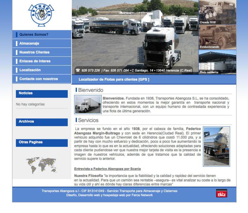 Transportes Abengoza - Gestor de contenidos para empresa de transportes -1
