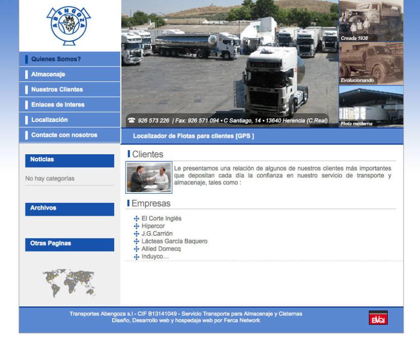 Transportes Abengoza - Gestor de contenidos para empresa de transportes 0