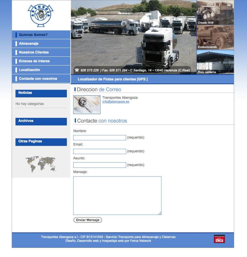 Transportes Abengoza - Gestor de contenidos para empresa de transportes 1