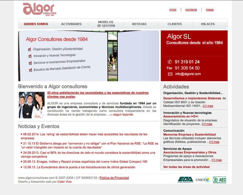 Algor - Gestor de contenidos para consultora 0