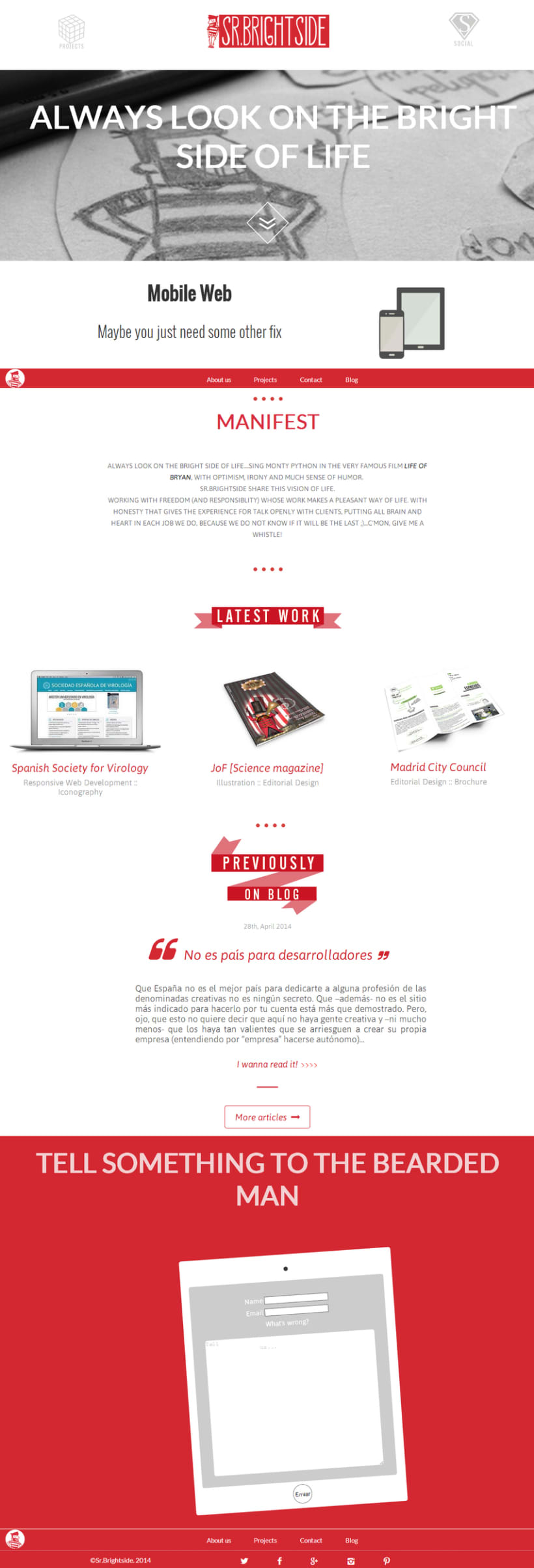 Web responsive de Sr.Brightside 2