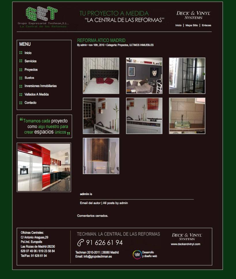 Grupo Techman - Gestor de contenidos desarrollado para grupo empresarial dedicado a reformas integrales de viviendas 1