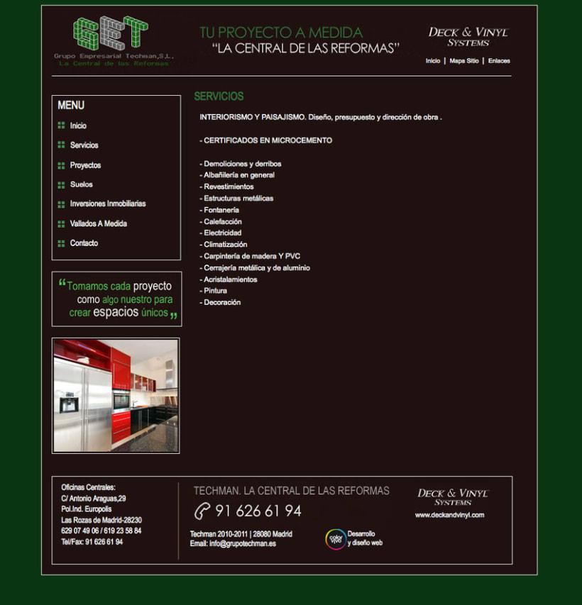 Grupo Techman - Gestor de contenidos desarrollado para grupo empresarial dedicado a reformas integrales de viviendas 2