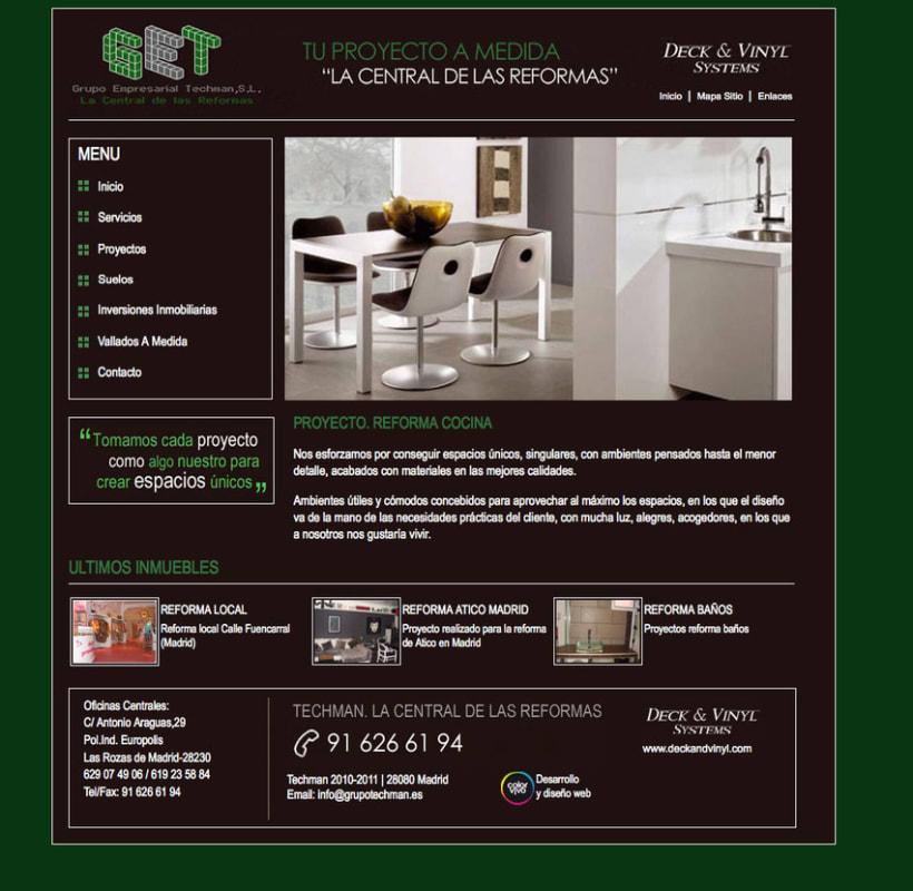 Grupo Techman - Gestor de contenidos desarrollado para grupo empresarial dedicado a reformas integrales de viviendas 0