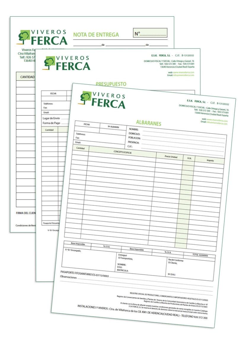 Viveros Ferca - Papeleria para empresa de viveros 3