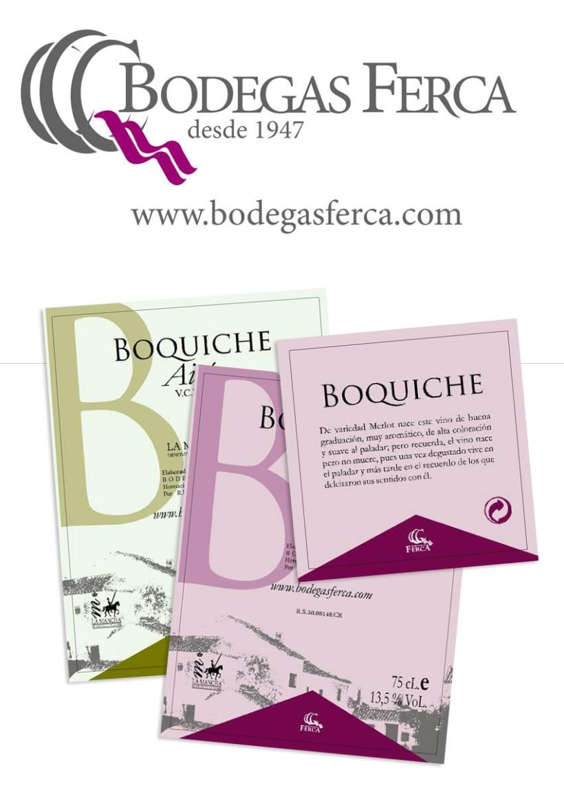 Bodegas Ferca - Logotipo y etiquetado para vinos de bodegas ferca  -1