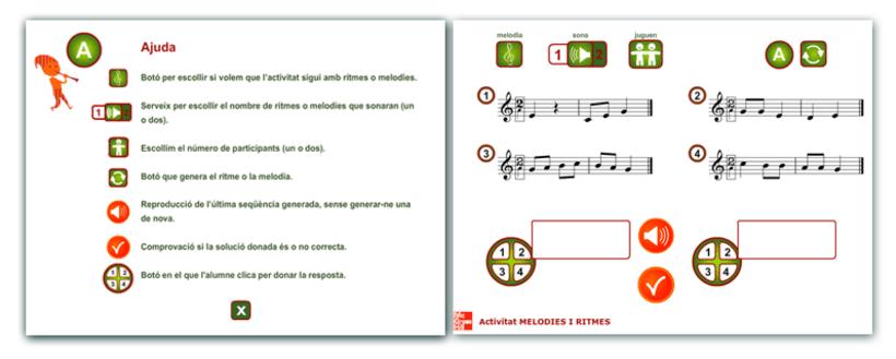 Actividades interactivas educativas de Música 4