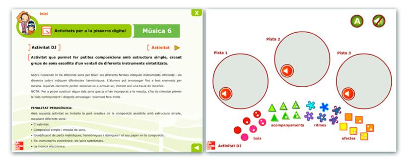Actividades interactivas educativas de Música 6