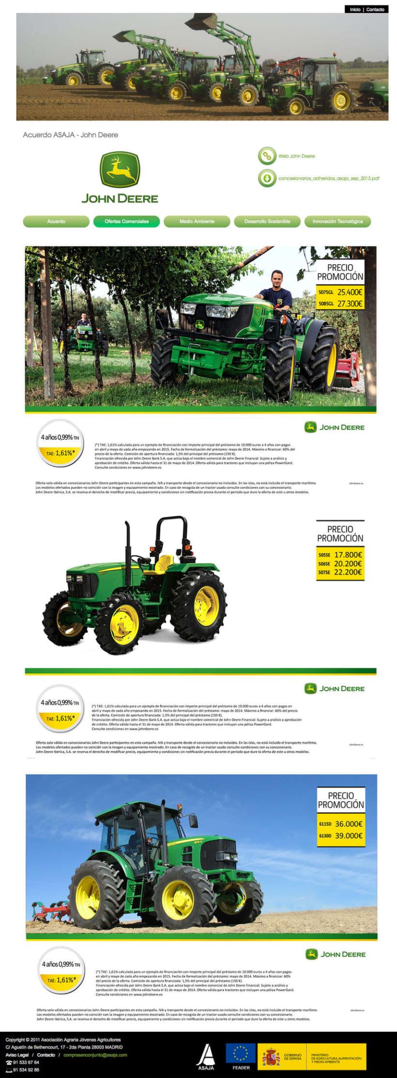 Compras en Conjunto - Plataforma Online realizada para Asaja sobre ofertas de maquinaria agrícola, semillas, fertilizantes, energías, seguro, banca y automoción 2