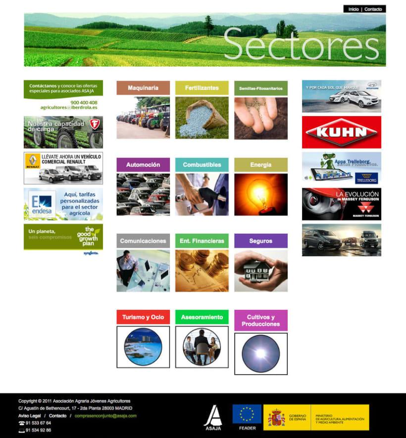 Compras en Conjunto - Plataforma Online realizada para Asaja sobre ofertas de maquinaria agrícola, semillas, fertilizantes, energías, seguro, banca y automoción 0