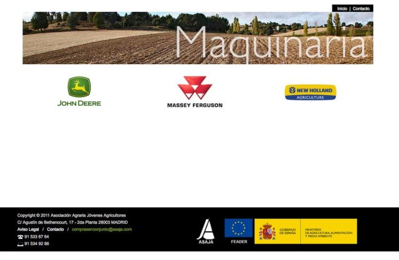 Compras en Conjunto - Plataforma Online realizada para Asaja sobre ofertas de maquinaria agrícola, semillas, fertilizantes, energías, seguro, banca y automoción 1