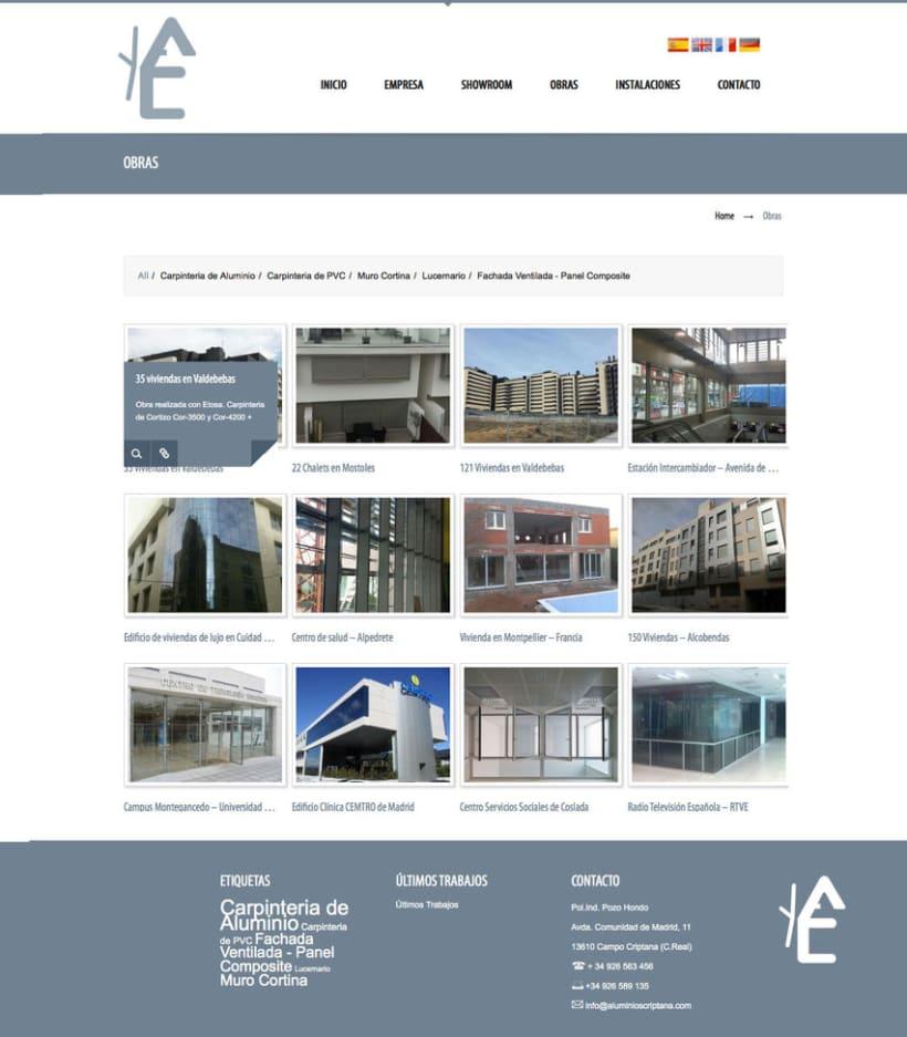 Aluminios Criptana - Gestor de contenidos para empresa de carpinteria de aluminios y PVC 2