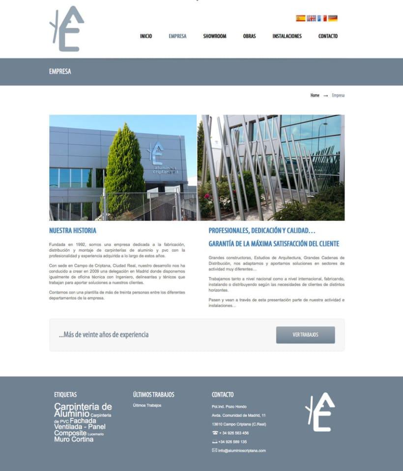 Aluminios Criptana - Gestor de contenidos para empresa de carpinteria de aluminios y PVC 1