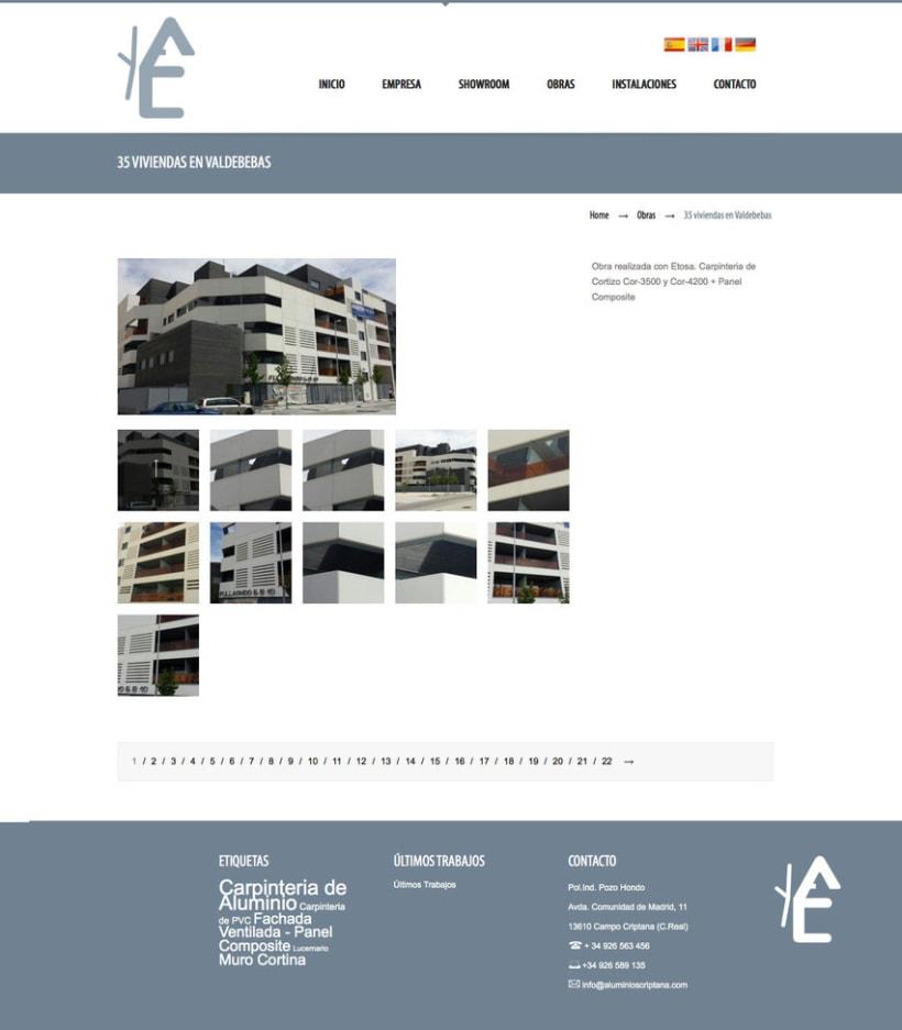 Aluminios Criptana - Gestor de contenidos para empresa de carpinteria de aluminios y PVC 3