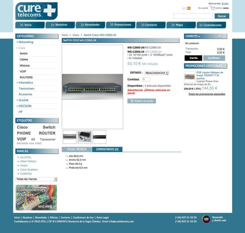 Hardware Telecom - Tienda Online desarrollado para empresa de suministro de equipamiento y accesorios  Cisco, IBM, Nortel, HP... 2