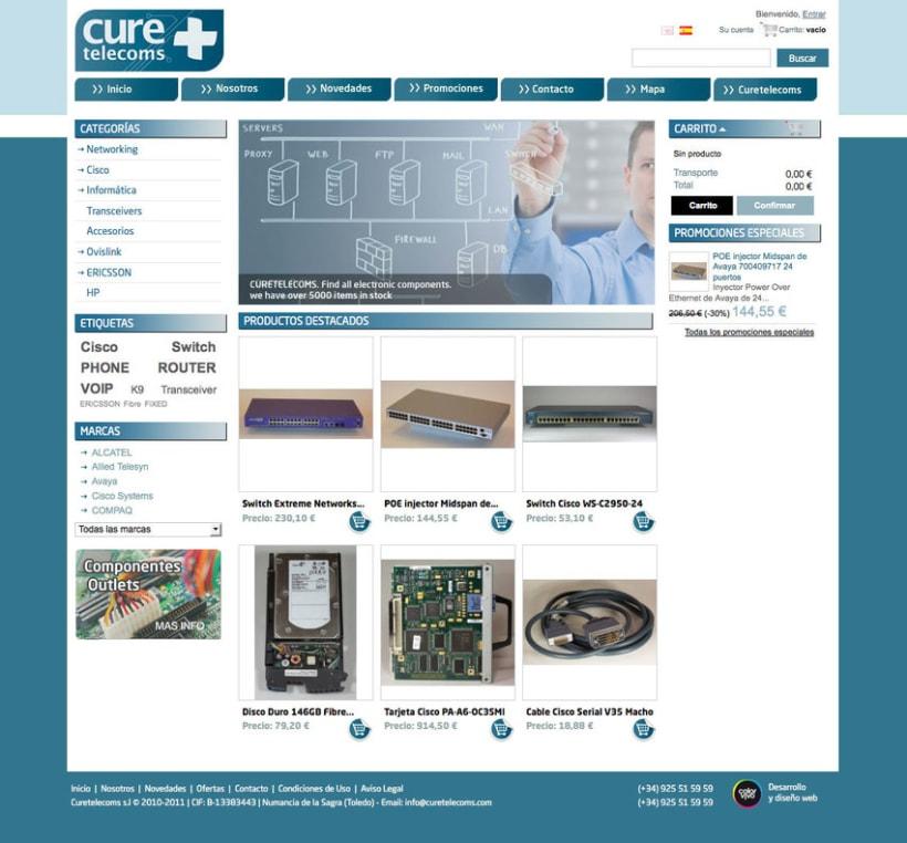 Hardware Telecom - Tienda Online desarrollado para empresa de suministro de equipamiento y accesorios  Cisco, IBM, Nortel, HP... 0