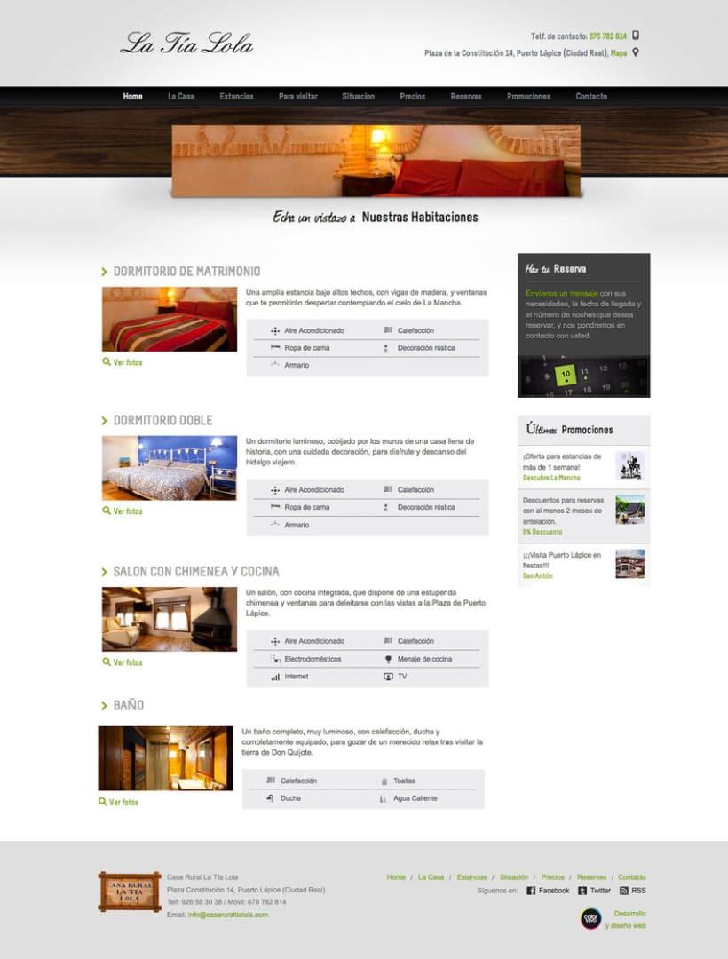 Casa Rural Tia Lola - Pagina XHTML desarrollada para hostal - casa rural 1