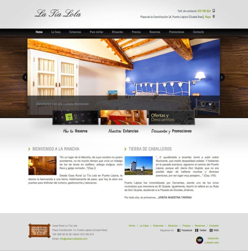 Casa Rural Tia Lola - Pagina XHTML desarrollada para hostal - casa rural 0