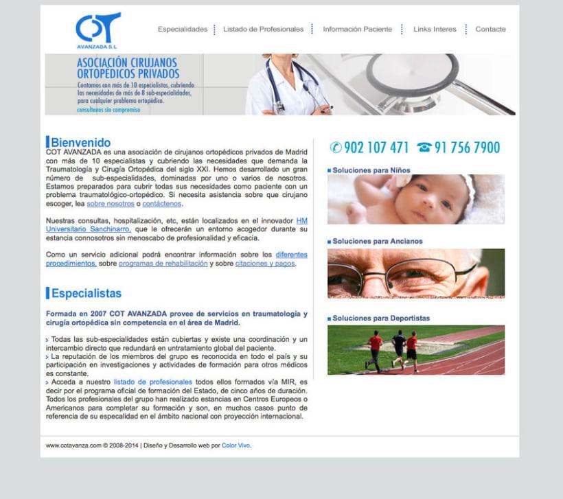 COT AVANZADA - Portal a medida para una asociación de cirujanos ortopédicos privados de Madrid -1