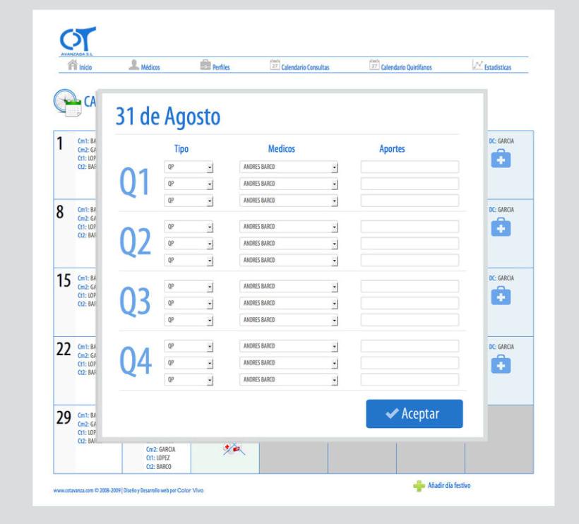 COT AVANZADA - Intranet creada para una asociación de cirujanos ortopédicos privados de Madrid 1