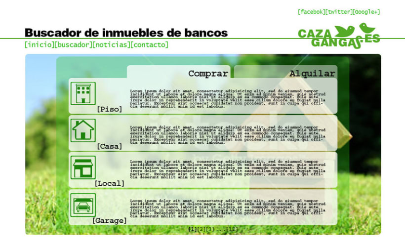 Logo, papelería y web de cazagangas.es 4