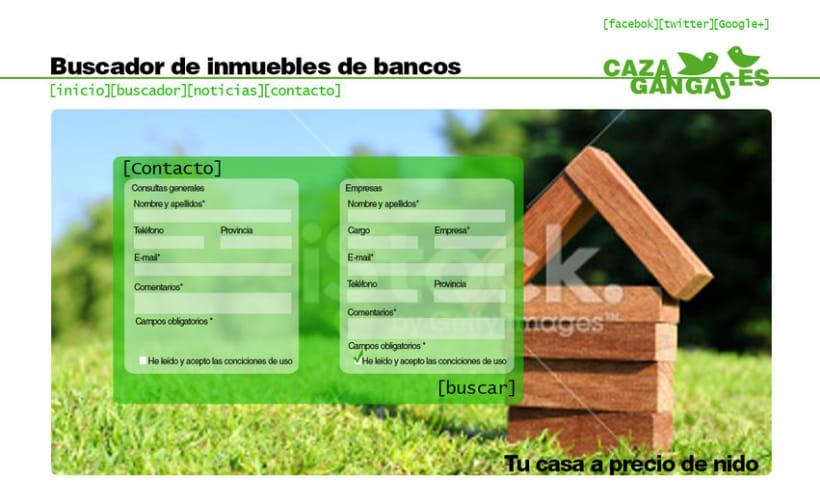 Logo, papelería y web de cazagangas.es 5