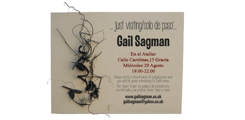 Cartel de exposicion de Gail Sagman en Barcelona 0
