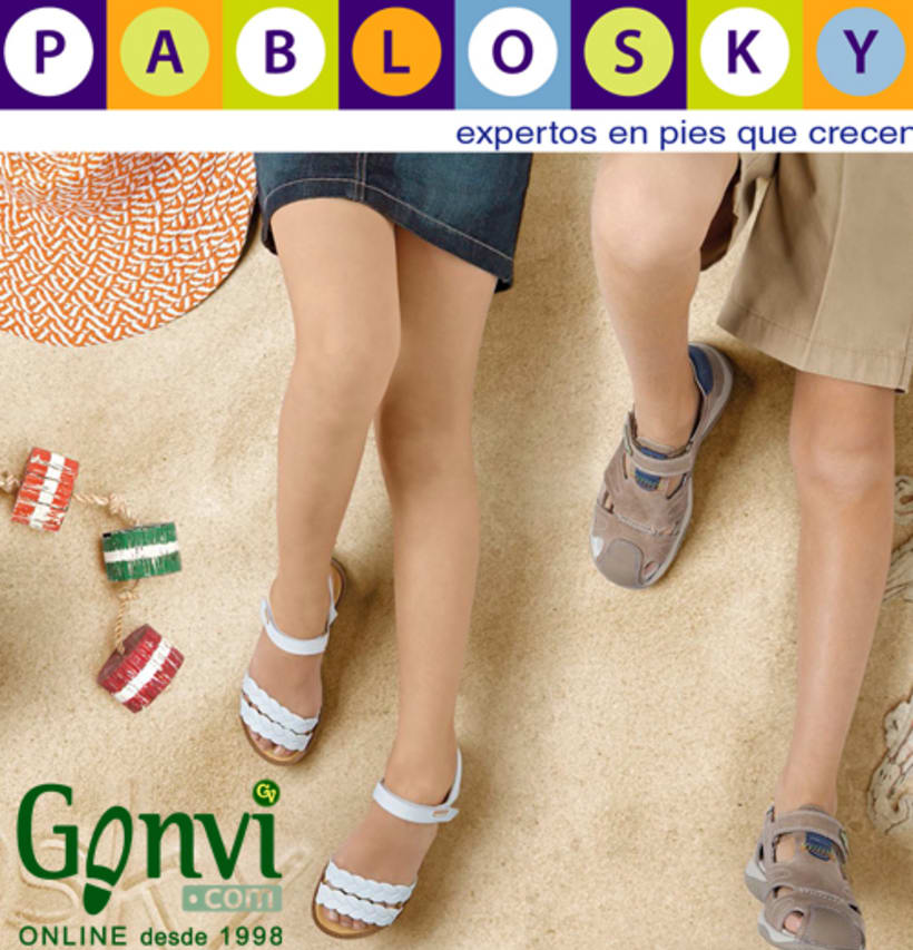 Portadas para Web y Blog de empresa de calzado. Gonvi. 18