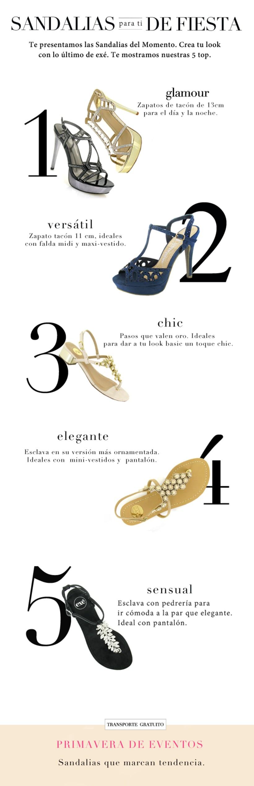 Campaña de Sandalias de Fiesta. 1