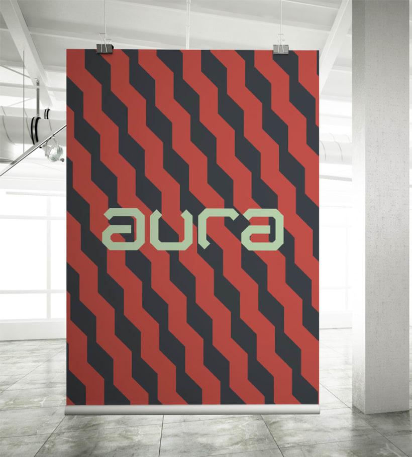 AURA Café. Diseño de Marca e Identidad. 3