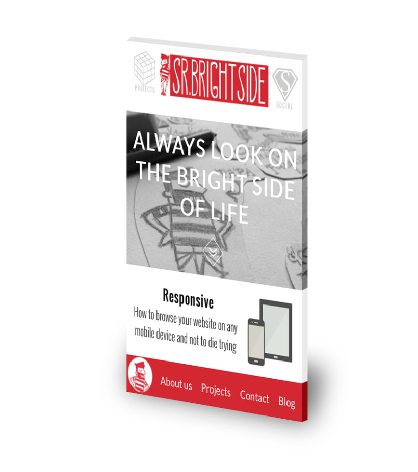 Web responsive de Sr.Brightside 0