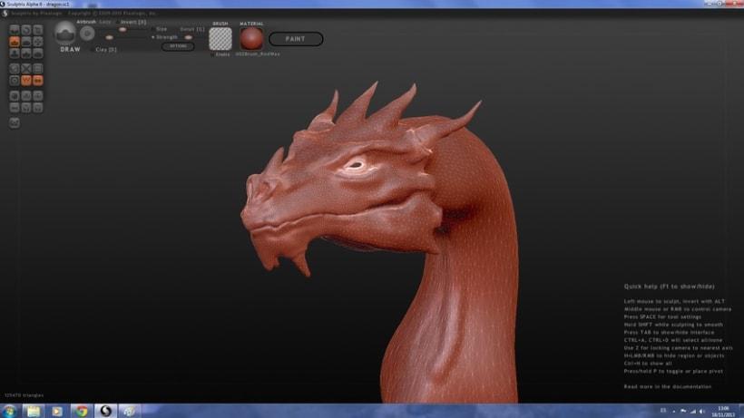Dragon con Sculptris y Zbrush 0