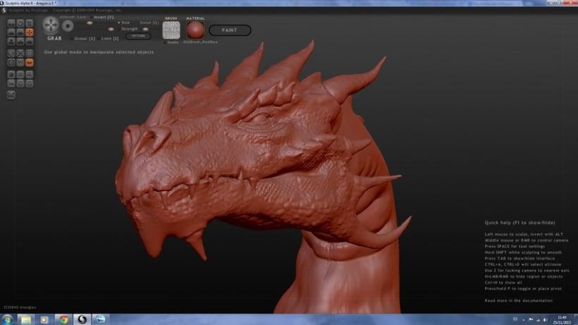 Dragon con Sculptris y Zbrush 1