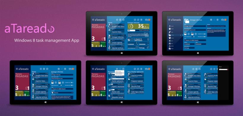 © aTareado aplicación de gestión de tareas para Windows 8  0
