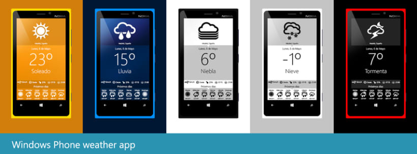 Aplicación meteorológica para móviles Windows Phone  0