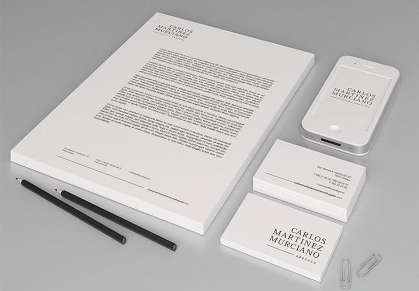 Carlos Martinez Murciano. Diseño de marca.  2