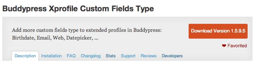Buddypress Xprofile Custom Fields Type 0