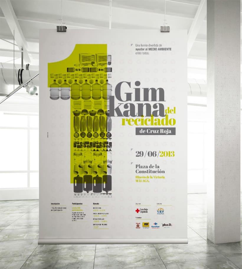GIMKANA del Reciclado 2013 Cruz Roja.Diseño de Gráfica. -1