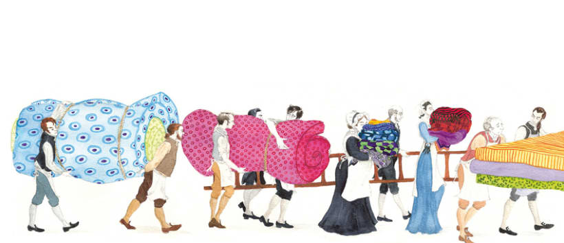 """Ilustraciones para versión de """"la princesa del gisante"""" 0"""