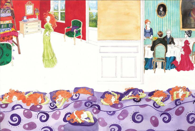 """Ilustraciones para versión de """"la princesa del gisante"""" 2"""