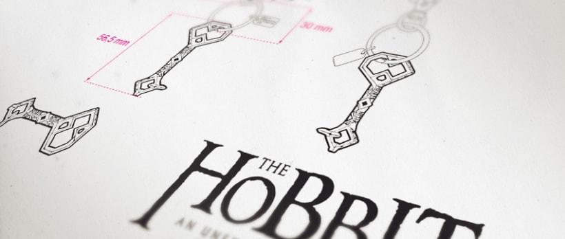 """Llaveros """"El Hobbit"""" -1"""