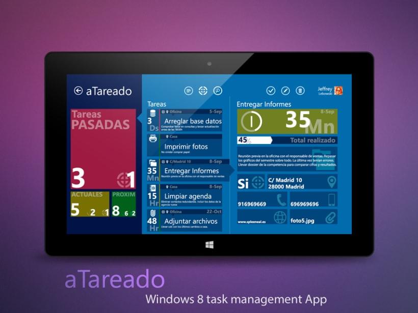 © aTareado aplicación de gestión de tareas para Windows 8  1