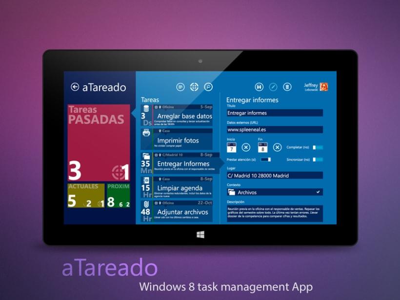 © aTareado aplicación de gestión de tareas para Windows 8  2