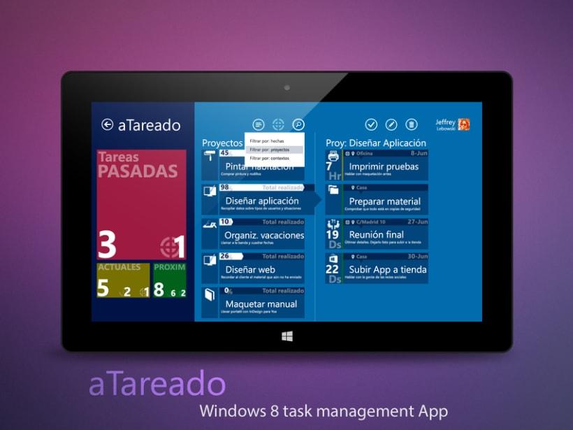 © aTareado aplicación de gestión de tareas para Windows 8  4