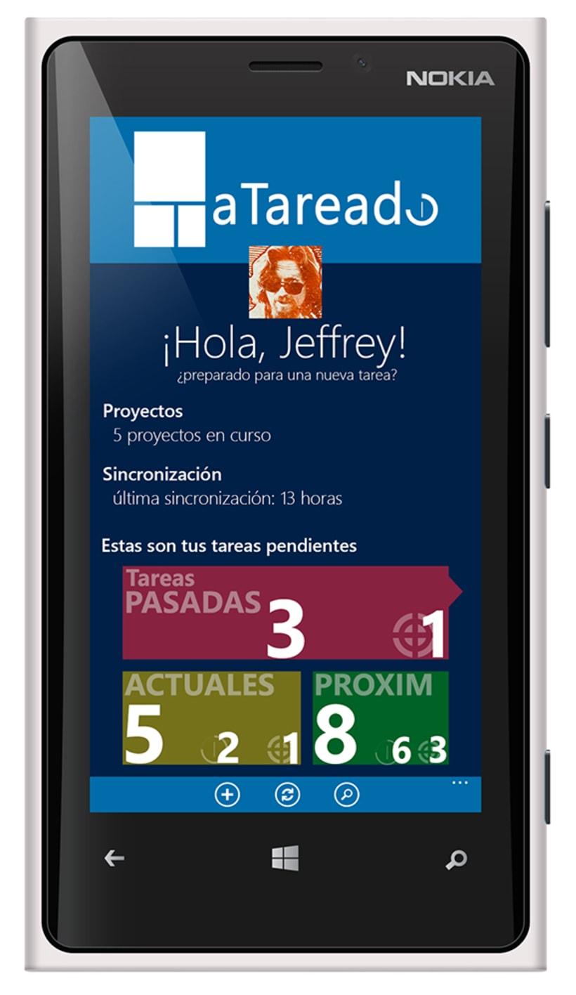 © aTareado aplicación de gestión de tareas para Windows Phone 8 1