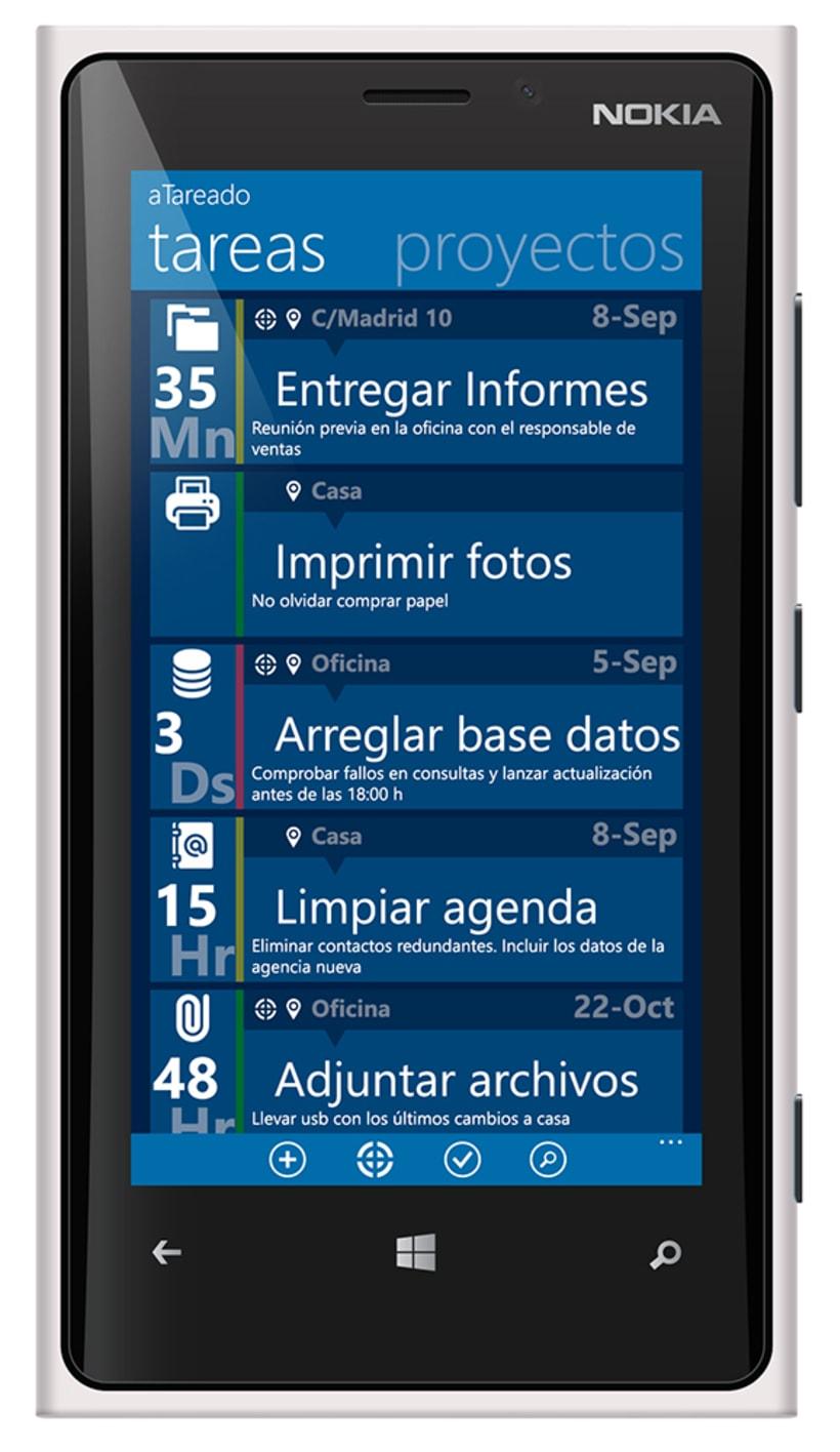 © aTareado aplicación de gestión de tareas para Windows Phone 8 2