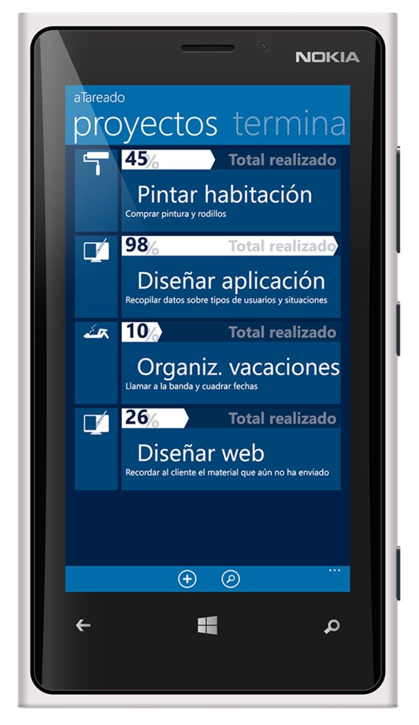 © aTareado aplicación de gestión de tareas para Windows Phone 8 3