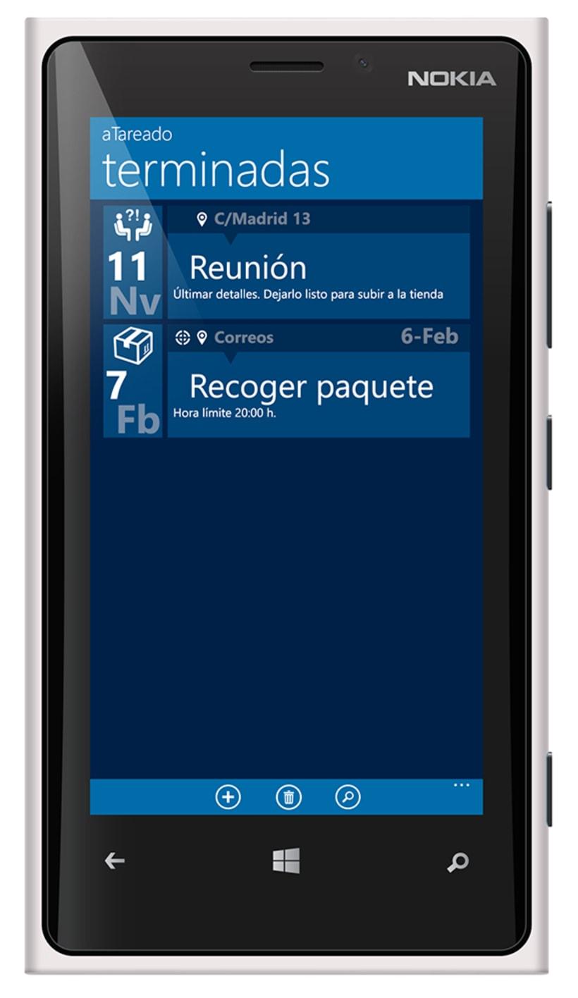© aTareado aplicación de gestión de tareas para Windows Phone 8 4