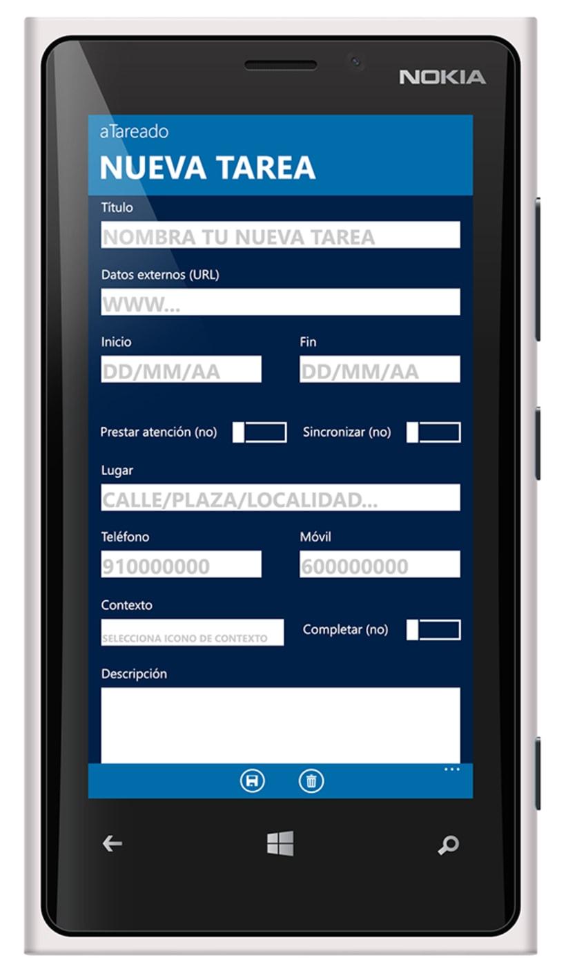 © aTareado aplicación de gestión de tareas para Windows Phone 8 6
